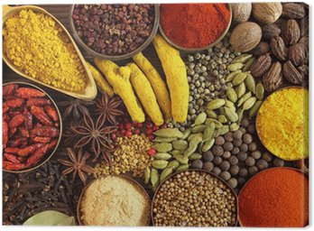 Canvas Print Indian spices
