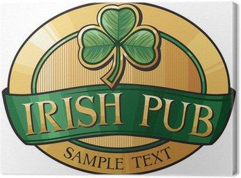 Canvas Print irish pub label design