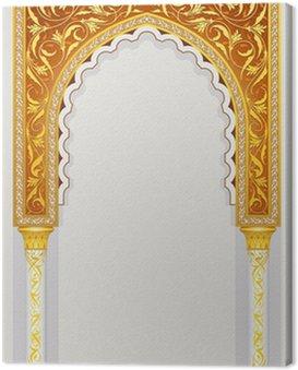 Canvas Print islamic arch design