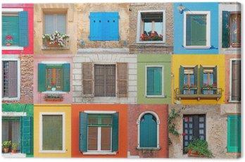 Canvas Print Italian windows