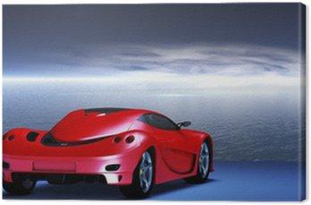 Italienischer Konzept Sportwagen vor einem dynamischen Himmel