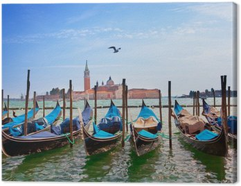 Canvas Print Italy. Venice. Gondolas in the Canal Grande..