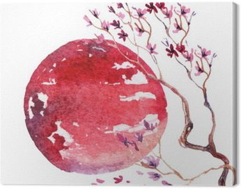 Canvas Print Japan Cherry blossom.