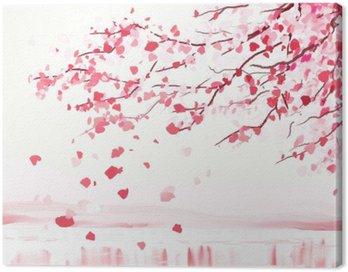 Canvas Print Japanese cherry tree