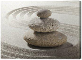 Canvas Print jardin zen avec sable et galets
