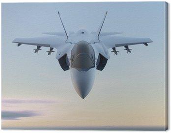 Canvas Print Jet F-35 aereo caccia militare