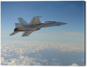 Canvas Print Jetfighter in flight