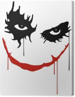 Canvas Print Joker smile