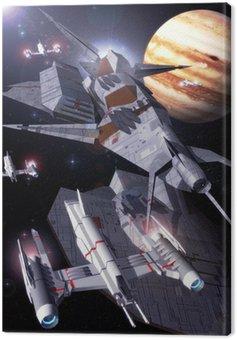 Canvas Print jupiter orbit
