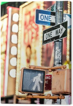 Canvas Print Keep walking New York traffic sign