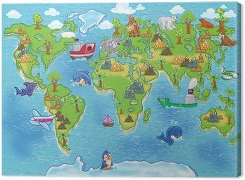 kids world map