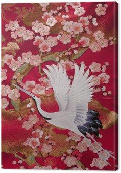 kimono 鶴 Canvas Print