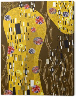 klimt inspired abstract art Canvas Print