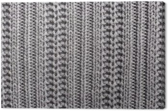 Knitting wool close up texture Canvas Print