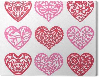 Lace Fretwork Hearts Set