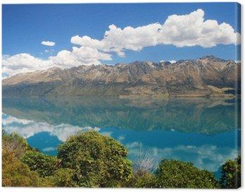 Canvas Print Lake Wakatipu, South Island of New Zealand.