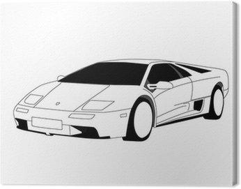 Canvas Print Lamborghini - Line Art