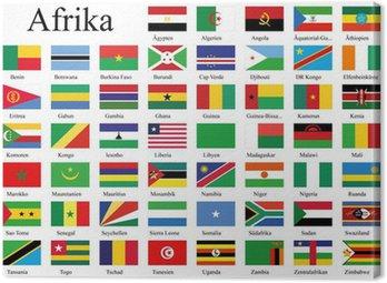 Länderflaggen Afrikas
