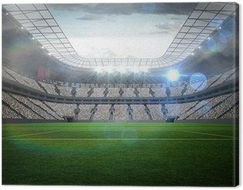 Canvas Print Large football stadium with lights
