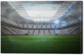 Canvas Print Large football stadium with lights