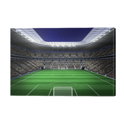 Large football stadium with lights Canvas Print • Pixers ...
