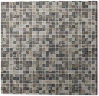 Large square seamless texture of mosaic tiles 07 Canvas Print