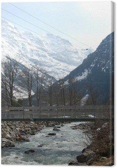 Canvas Print Lauterbrunnen Valley (Inspiration for Rivendell) Switzerland