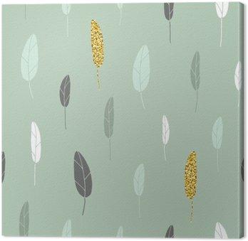 Leaf pattern. Canvas Print