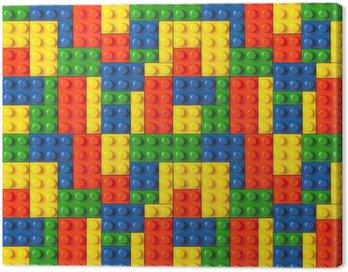 Canvas Print Lego background