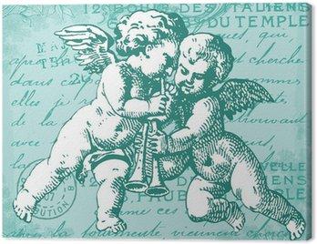 Canvas Print Les anges bleus
