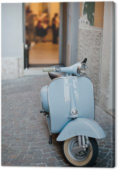 Canvas Print Lightblue Classic Scooter