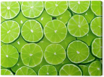 Canvas Print lime background