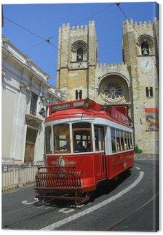 lisbon red tram