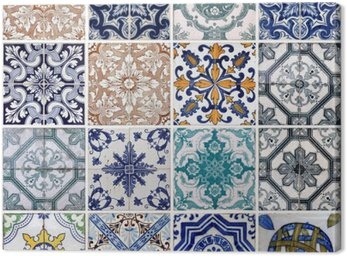 Canvas Print Lisbon tiles