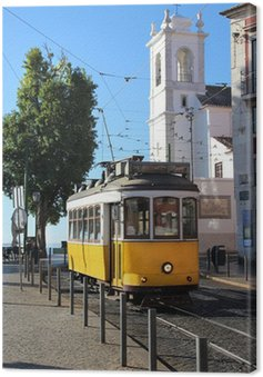 Canvas Print Lisbon tram