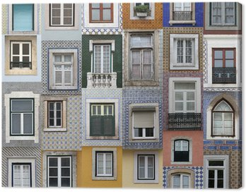 Canvas Print Lisbon windows