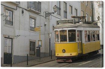 Canvas Print Lisbon yellow tram