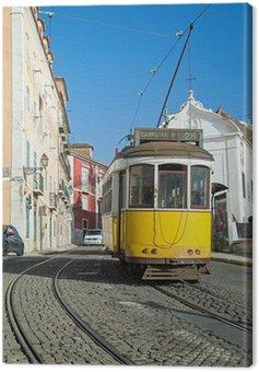 Canvas Print Lisbonne : Tram Jaune - Ligne 28