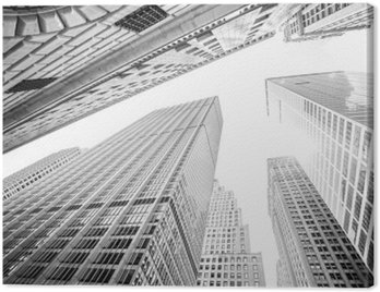 Canvas Print Looking up at skyscrapers in Manhattan, New York City, USA