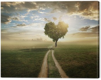 Canvas Print Love Tree