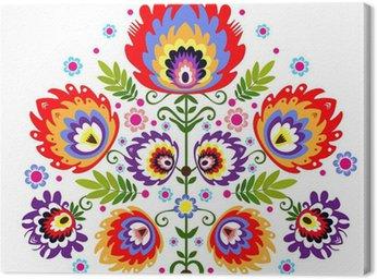 Canvas Print ludowy wzór - kwiaty