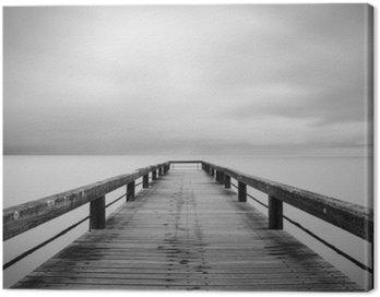 Canvas Print Lunga esposizione in bianco e nero