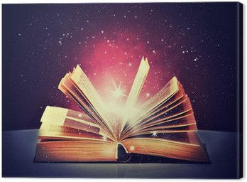 Canvas Print magic book open