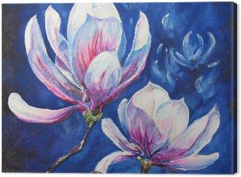 Magnolia acrylic painted