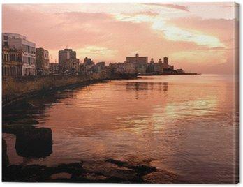 Malecon at Sunset. Havana (Cuba)