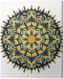 Mandala. colored Vintage decorative elements.