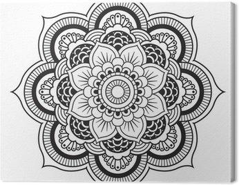 Canvas Print Mandala. Round Ornament Pattern