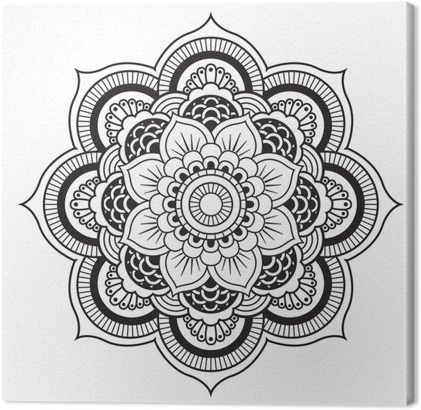 mandala round ornament pattern canvas print pixers we live to change. Black Bedroom Furniture Sets. Home Design Ideas