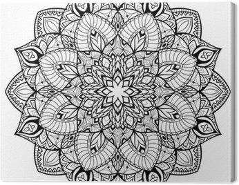 Mandala with thin lines.
