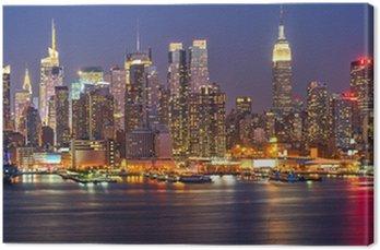 Canvas Print Manhattan at night
